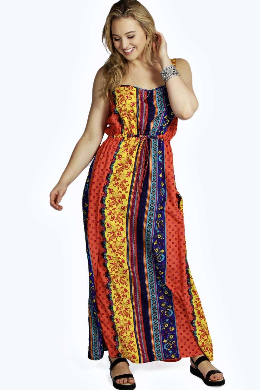 Plus melissa bright mix print maxi dress alternative image plus