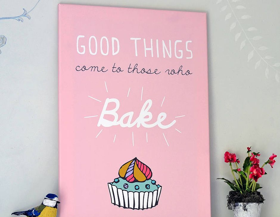 A fabulously cute typographic print that is a must have for those kitchens that are always full of yummy baking smells.
