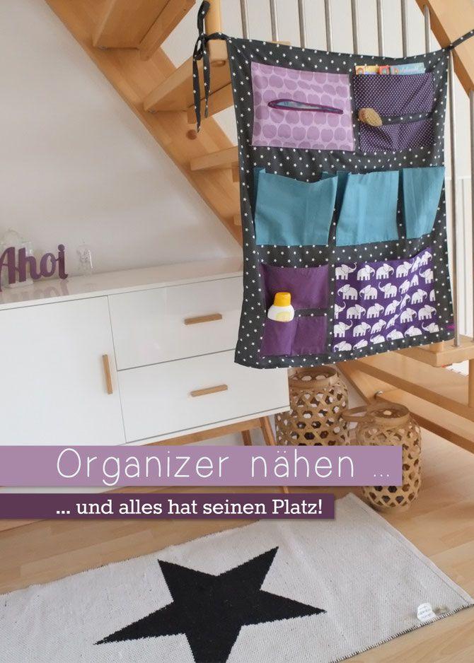 Lybstes Organizer nähen | nähen für kinder | Pinterest | Organizer ...