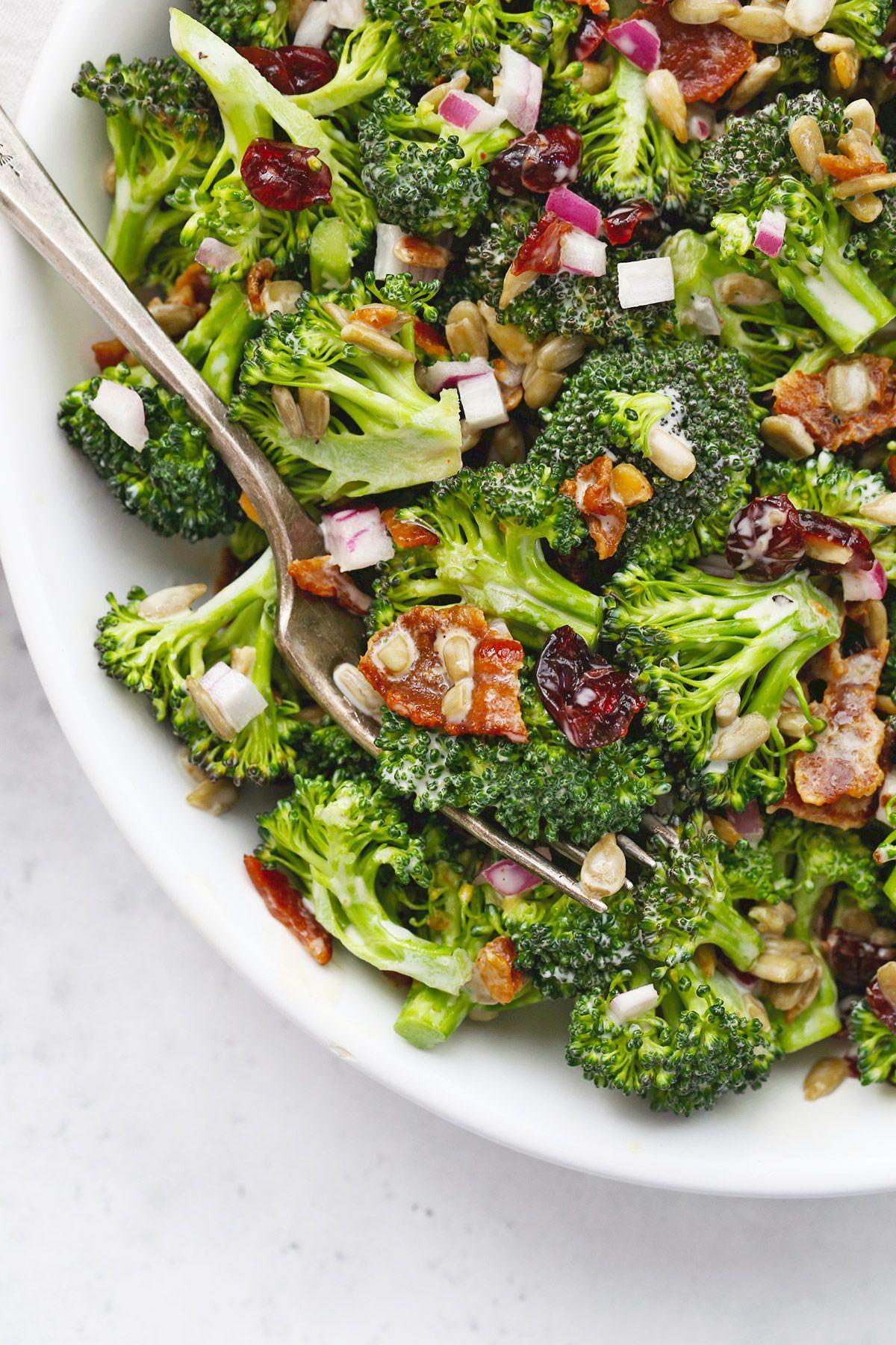 Broccoli bacon salad paleo glutenfree one lovely