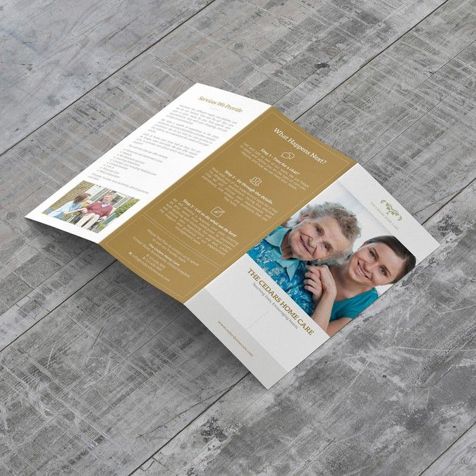 Freelance Contemporary Brochure For Home Care Company By Duwi