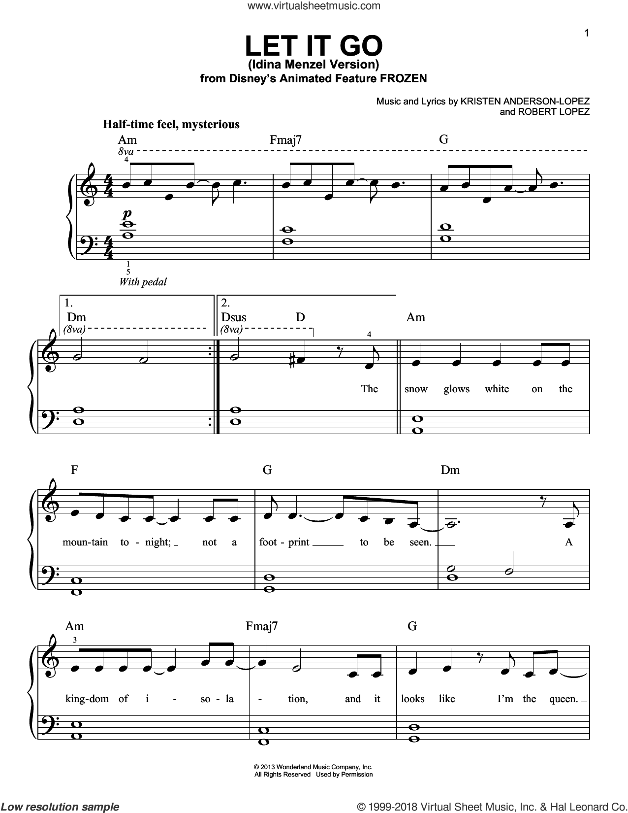 Menzel Let It Go From Frozen Sheet Music For Piano Solo Pdf In 2020 Sheet Music Piano Sheet Music Sheet Music Notes
