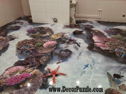 3d Bathroom Floor Murals Designs, Self Leveling Floors For Modern Bathroom  Flooring Ideas