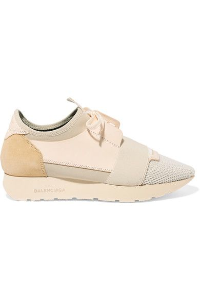 usine authentique 10e2c 46aad Balenciaga | Race Runner leather, mesh, suede and neoprene ...