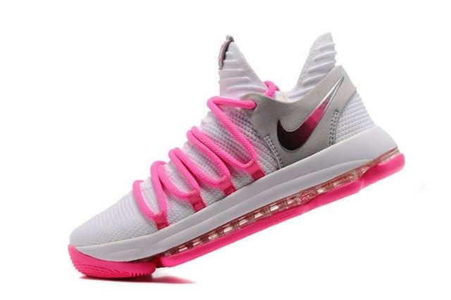 the latest ecd91 89016 Adaptable Nike Zoom KD 10 EP White Baby Pink Kevin Durant Men s Basketball  Shoes Sneakers