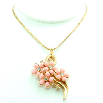 9f1389eb0 Lanie Lynn Vintage Jewelry: Pink Flower Necklace, at 20% off ...