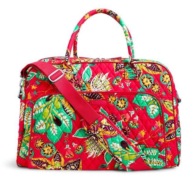 bdb322ed62 Vera Bradley Weekender Travel Bag ( 98) ❤ liked on Polyvore featuring bags