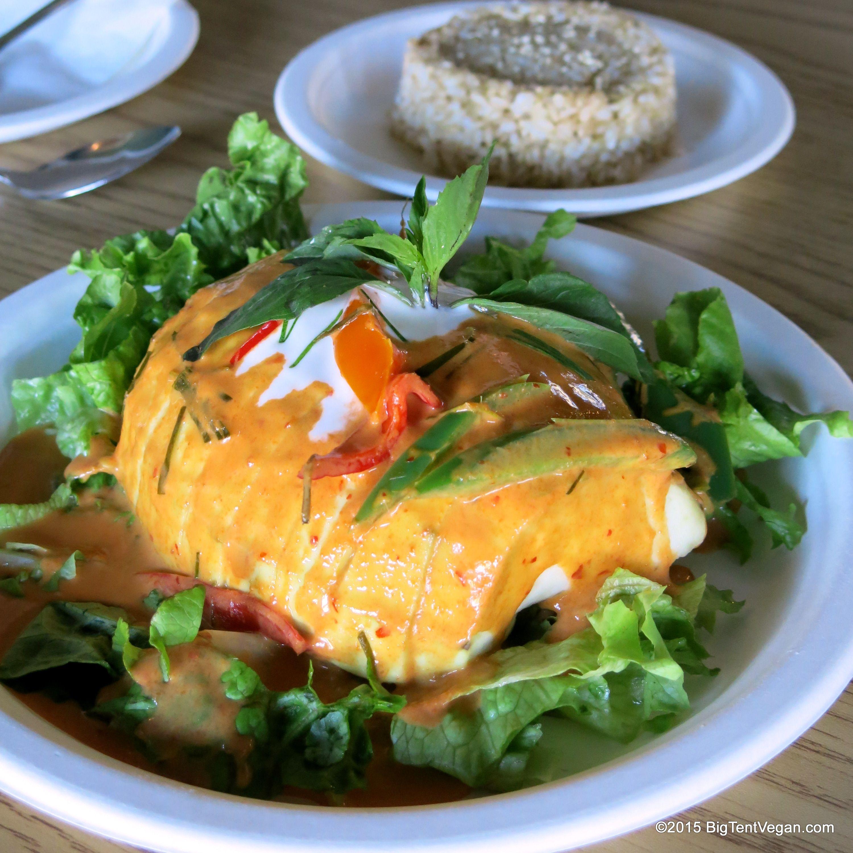 Tasty Eggplant With Coconut Curry Sauce From Happy Elephant Vegan Long Beach Ca Usa Vegan Coconut Curry Sauce Soul Food Food