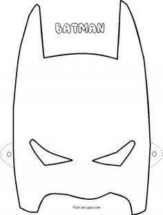 Printable Superheroes Batman Mask Coloring Pages Cutouts In Worksheets Clipart Fargelegge