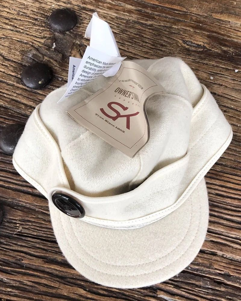 bcd10239517 NWT Stormy Kromer Women s The Button UP Winter White Wool Nylon Cap Size 7