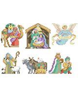 Nativity Ornaments - Cross Stitch PDF Download Chart