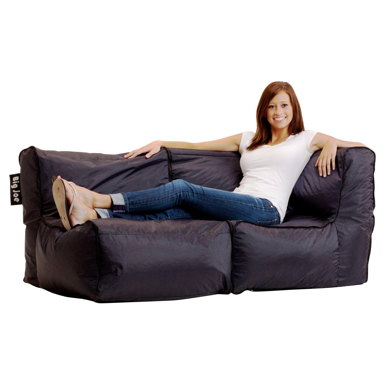Have to have it Big Joe Zip Modular Sofa Stretch Limo Black