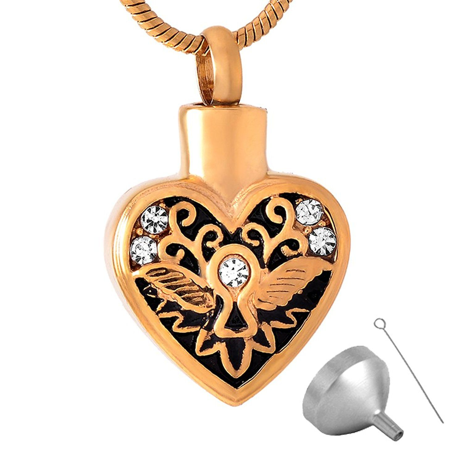316l stainless steel heart cremation jewelry ashes pendant with 316l stainless steel heart cremation jewelry ashes pendant with snack chain click image to mozeypictures Choice Image