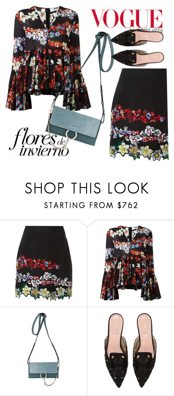 """""""Untitled #4626"""" by julinka111 ❤ liked on Polyvore featuring MSGM, Chloé and Alberta Ferretti"""