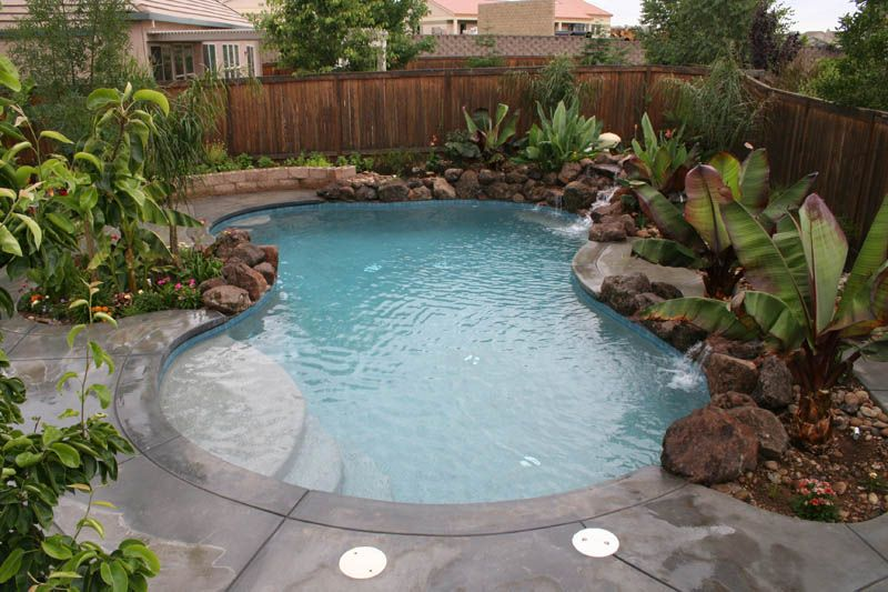 Free form pool will flagstone, waterfalls and tropical ... |Small Freeform Pools With Waterfalls