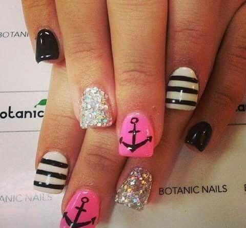 Marine Nails Nails Pinterest Marine Nails Anchor Nails