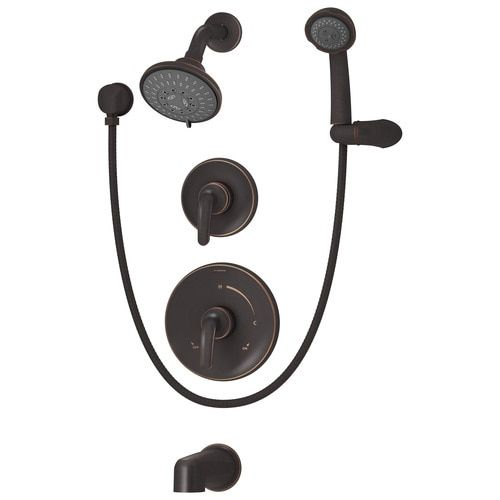 Symmons Elm Seasoned Bronze 2 Handle Bathtub And Shower Faucet At