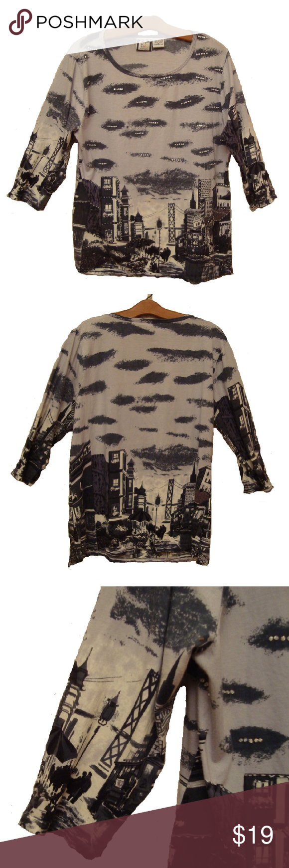 Take Two Clothing Co. City Scene Top, XL PreOwned Good