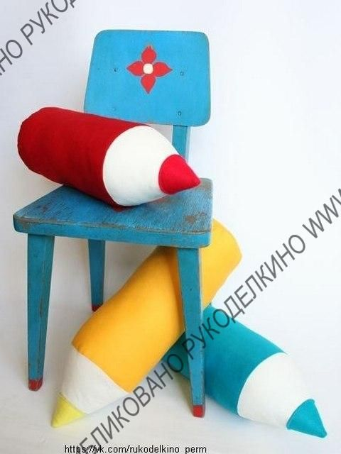 подушка-карандаш, выкройка