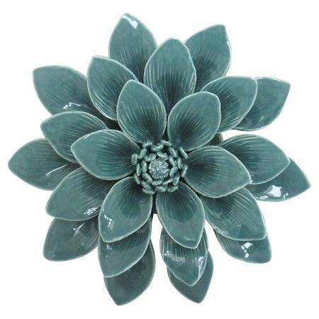 Porcelain Flower Wall Décor 8 Aqua Target