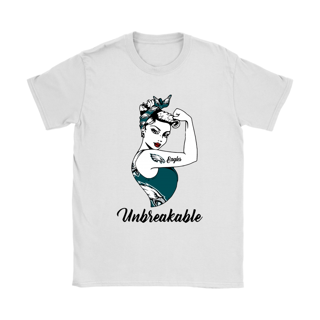 f561aaaf Strong Philadelphia Eagles Unbreakable Strong Woman NFL Shirts ...
