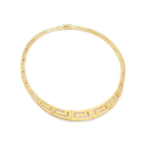 c2101bf9561b Pre-Owned 14K Yellow Gold Greek Key Motif Necklace ( 2