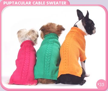 Puptacular Cable Dog Sweater