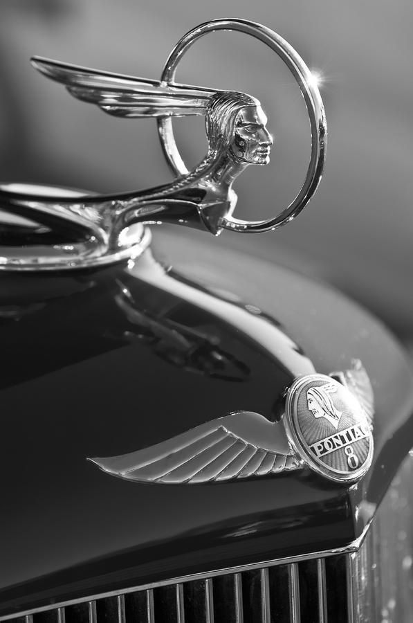 Pontiac 1933 Hood Ornament Hood Ornaments Car Hood Ornaments Retro Cars