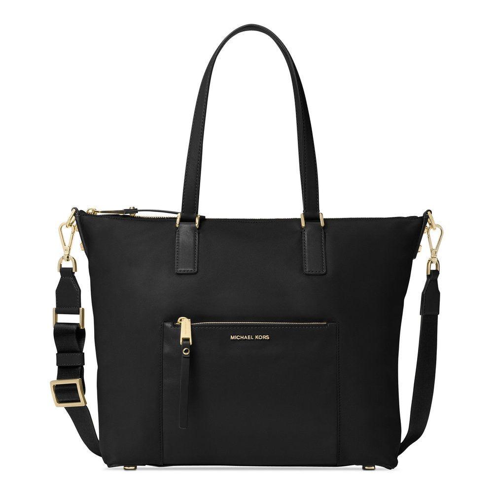 da9a4953e9e7 Michael Kors Ariana Black Nylon Large Tote Bag
