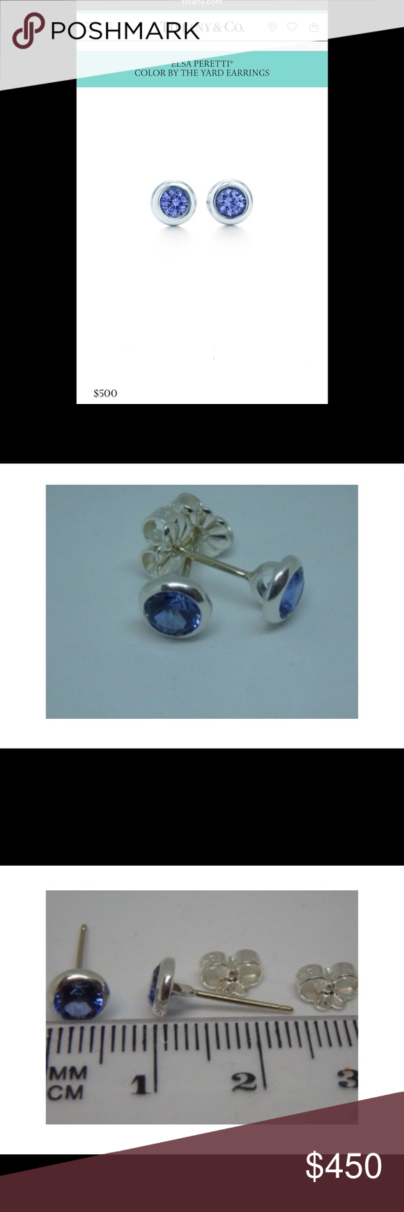 a1ad05d6e Tiffany & Co Color By The Yard Tanzanite Earrings DESCRIPTION & DETAILS  Earrings in sterling silver
