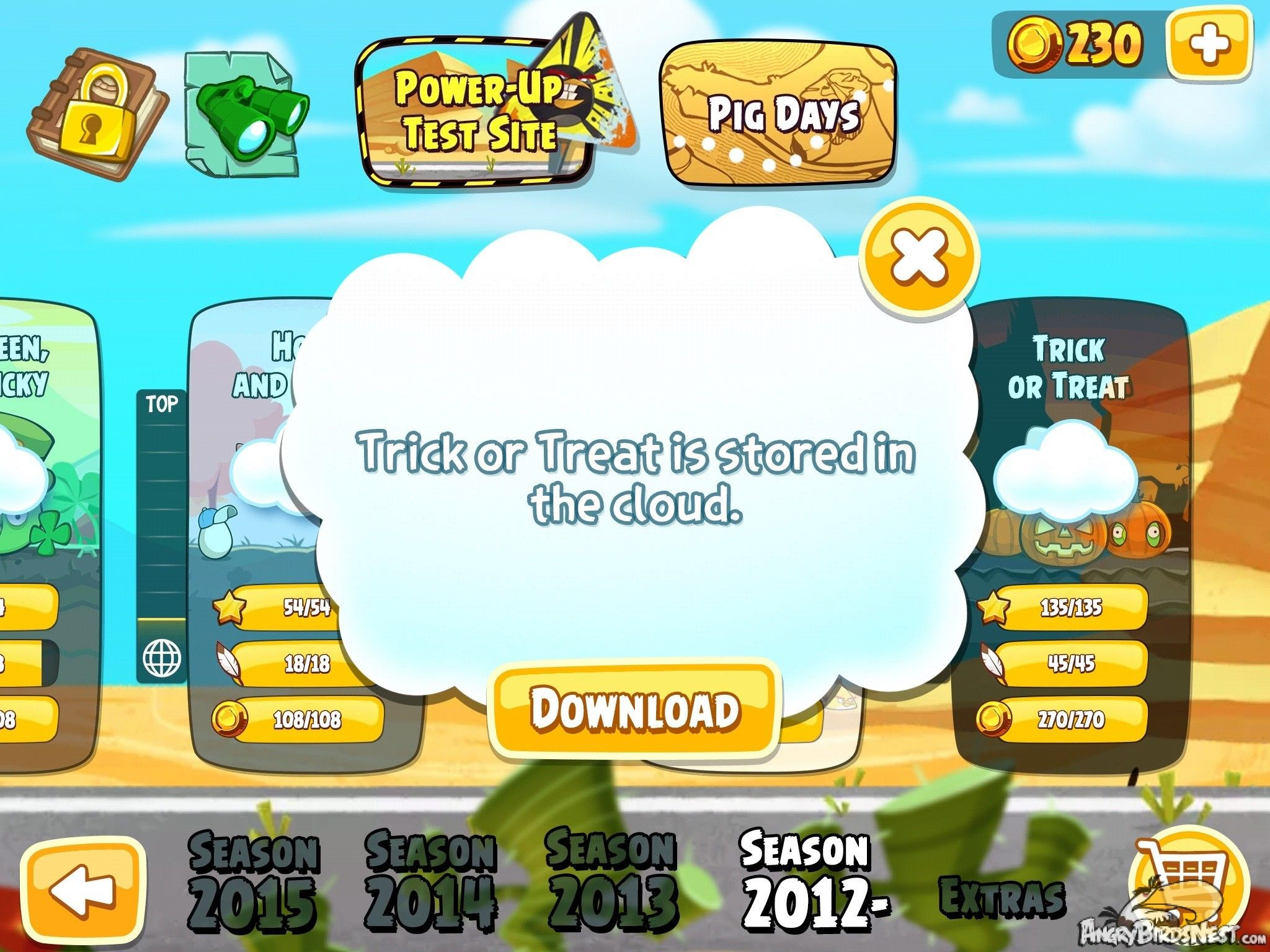 Angry Birds Seasons Invasion Of The Eggsnatchers Cloud System
