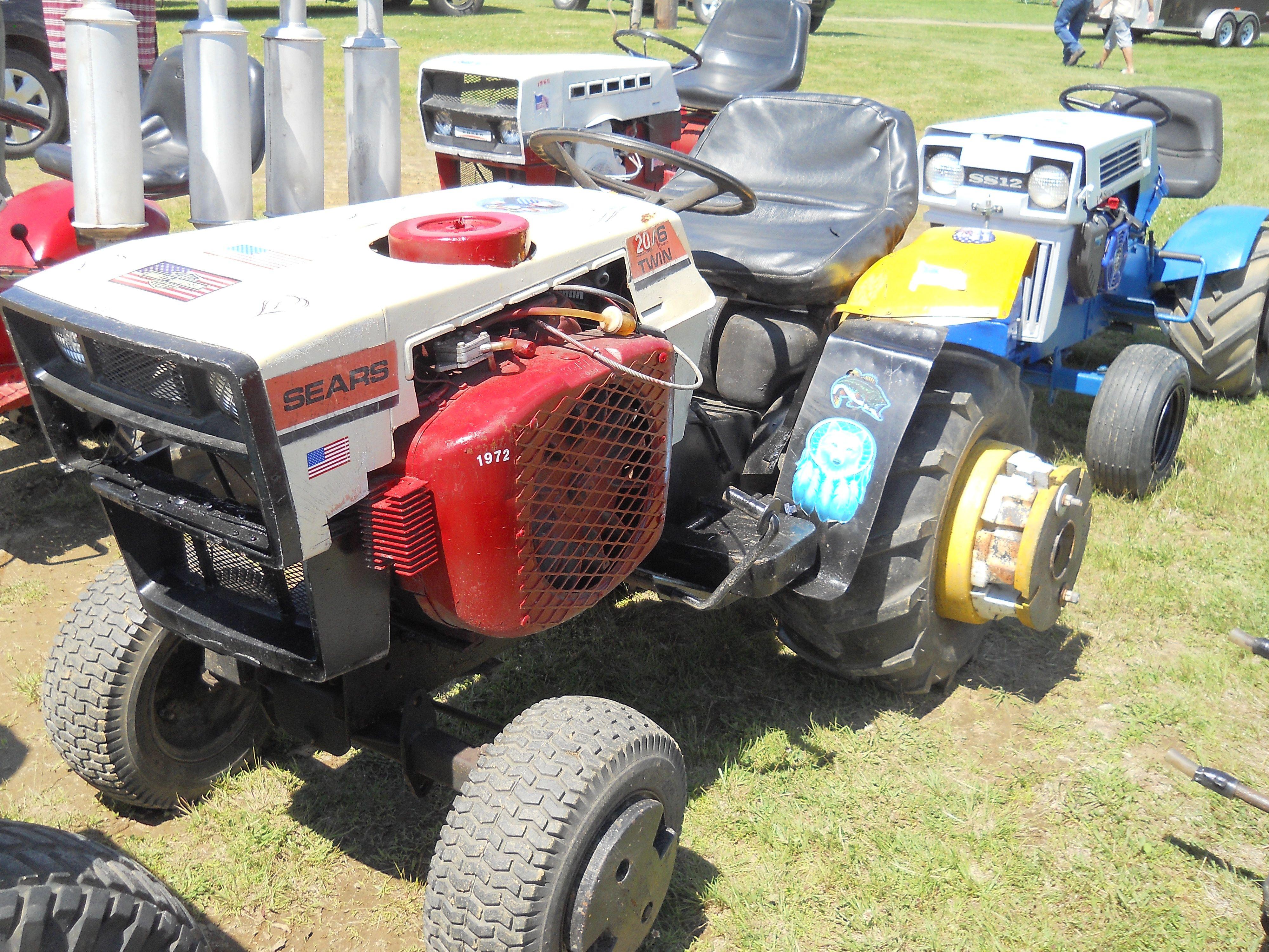 Sears Lawn Mower : Sears lawn garden tractor mowers very small
