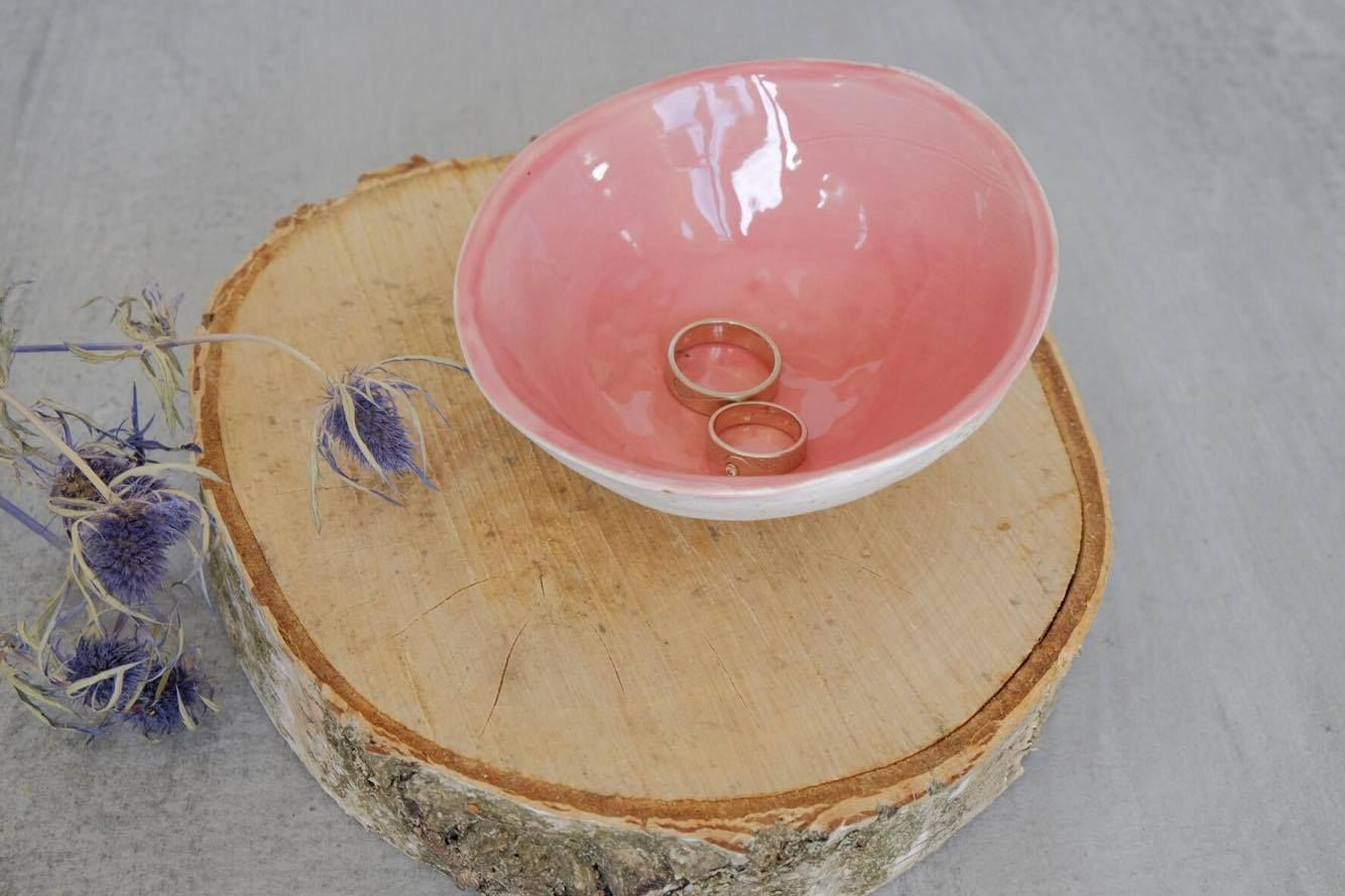 Wedding ring holder Ceramic ring dish Ceramic bowl Wedding decor ...