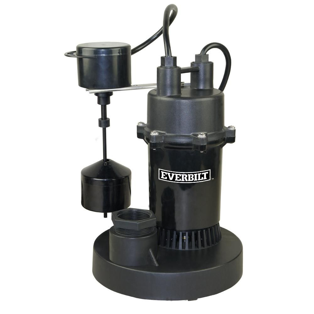 Everbilt 1/3 HP Submersible Sump Pump With Vertical