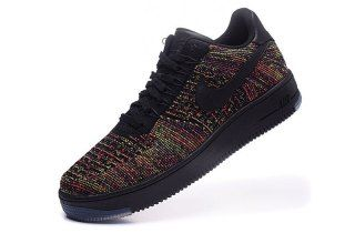 Nike AF1 Ultra Flyknit Low Black Bright Crimson Court Purple