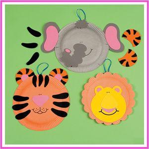 Paper Plate Zoo Animal Craft Kit (Makes 12)  sc 1 st  Pinterest & Paper Plate Zoo Animal Craft Kit (Makes 12) | Preschool Theme ...