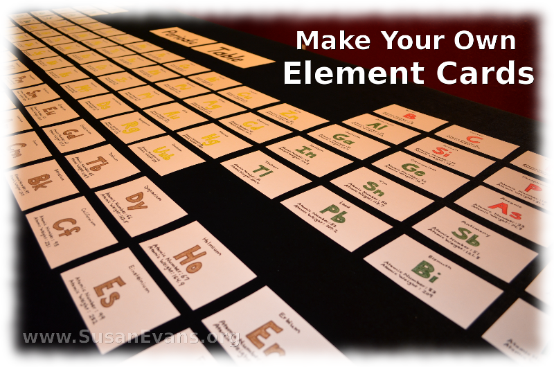 3 make your own element cards chemistry periodic table and homeschool 3 make your own element cards susans homeschool blog urtaz