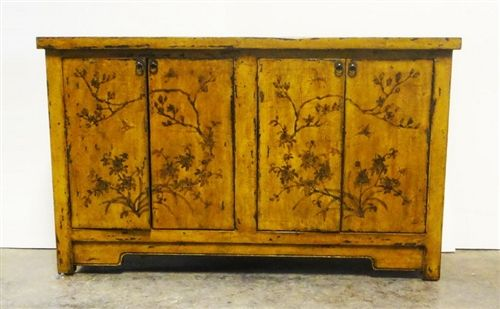 Tall Sideboard -- Yellow Floral