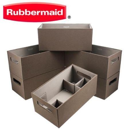 Rubbermaid 6 Pack Medium Brown Bento Storage Boxes Flex Dividers Espresso Organize Bins Walmart Com Storage Boxes Rubbermaid Storage Bins Organizing Bins