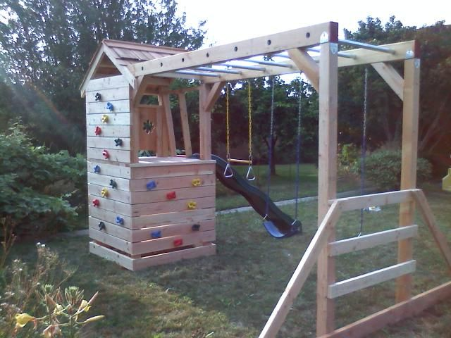 Klettergerüst Cleverclimber Club Xxl : Great idea w rock climbing wall bu minkey bars no wasted space