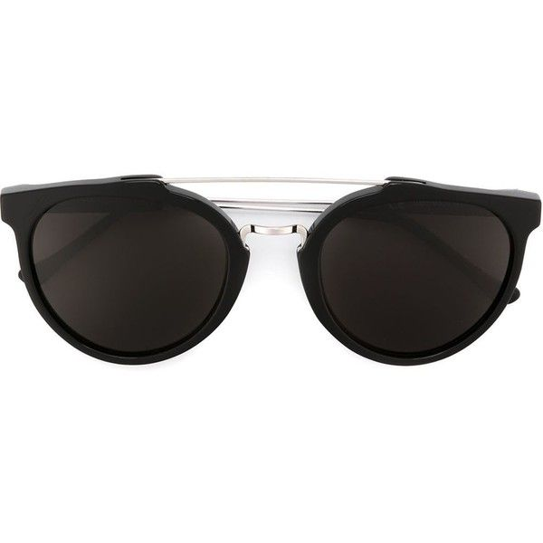 Retrosuperfuture Giaguaro Oversized Black Sunglasses (265 AUD) ❤ liked on Polyvore featuring accessories, eyewear, sunglasses, black, retrosuperfuture sunglasses, oversized glasses, retrosuperfuture, over sized sunglasses and oversized eyewear