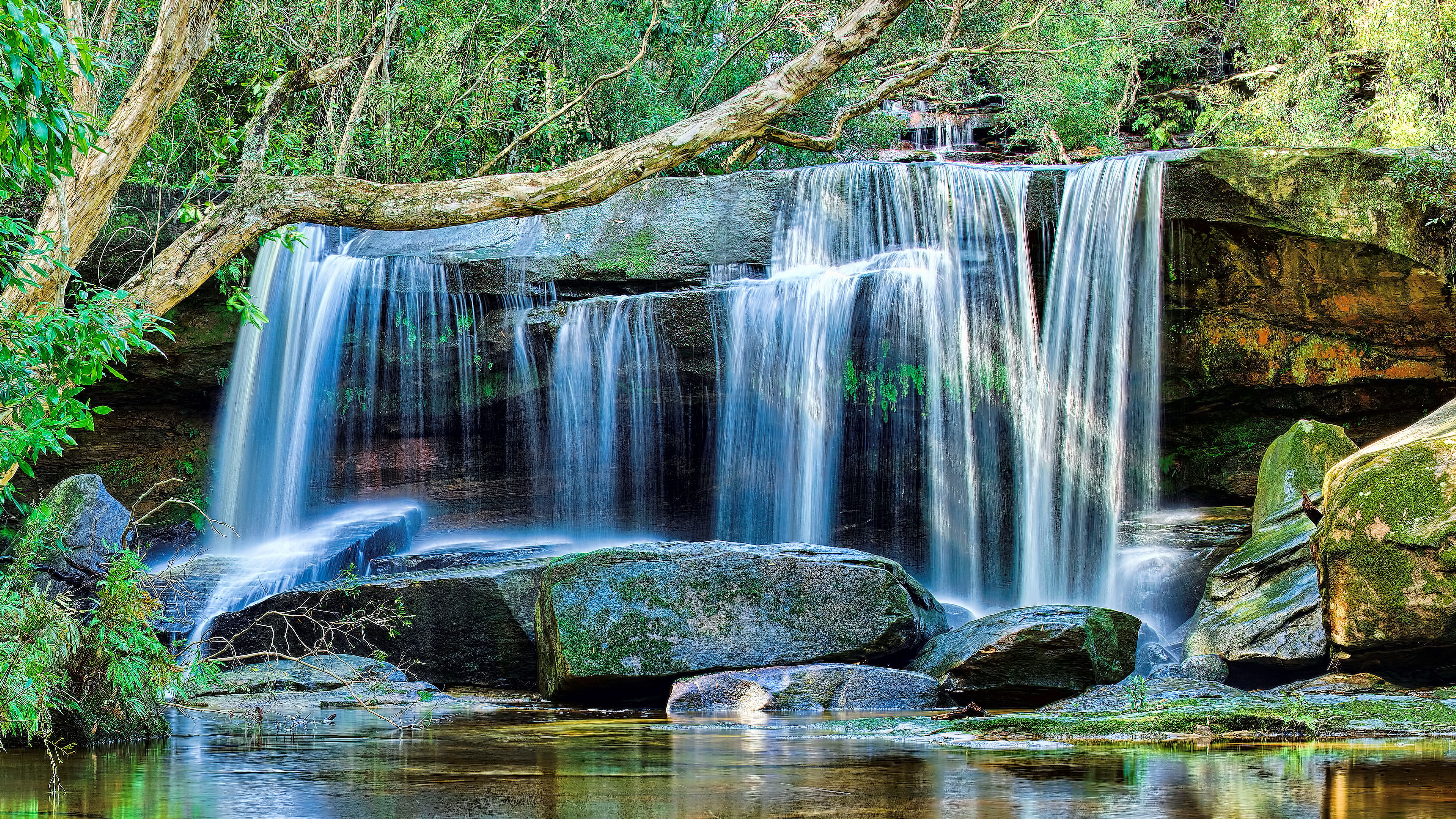 8k ultra hd nature waterfall wallpaper hd nature