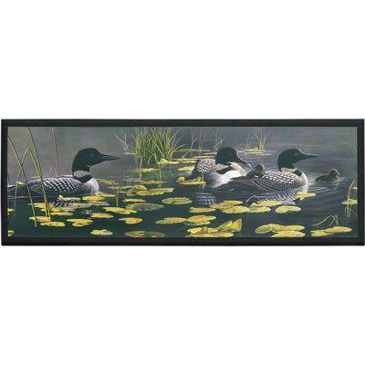 Illumalite Designs Ducks in Water Painting Print on Plaque