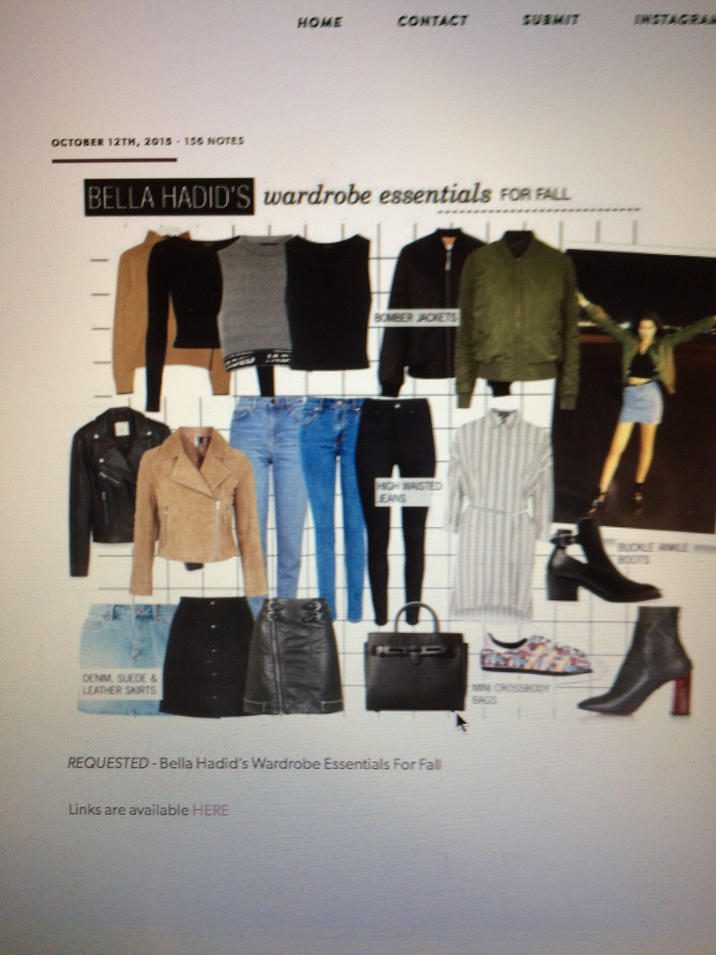 Bella Hadid's Wardrobe Essentials
