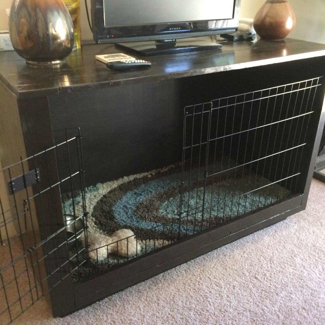 dog crates furniture style. diy furniture dog crate tv stand bed crates style