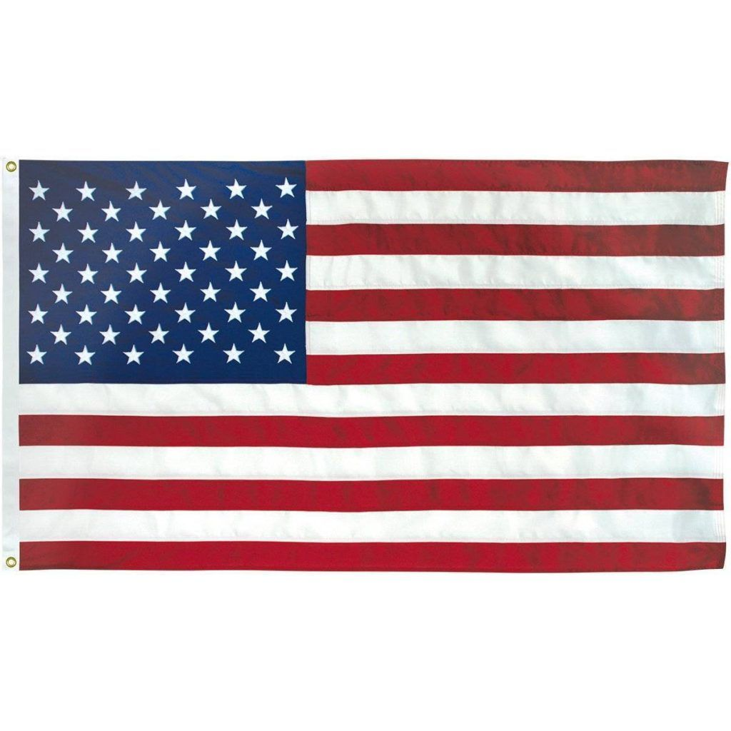Usa Flag Commercial 2 Ply Poly Embroidered 3x5 4x6 5x8