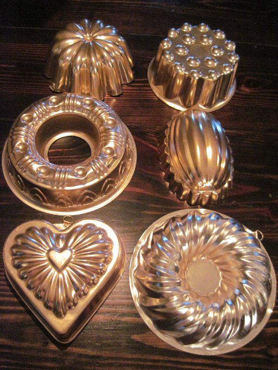 Vintage Copper Molds Instant Collection Set Of Six