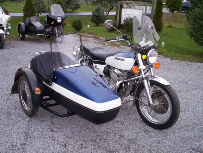 honda cb750 a with velorex 562 sidecar   sidecar motorcycles