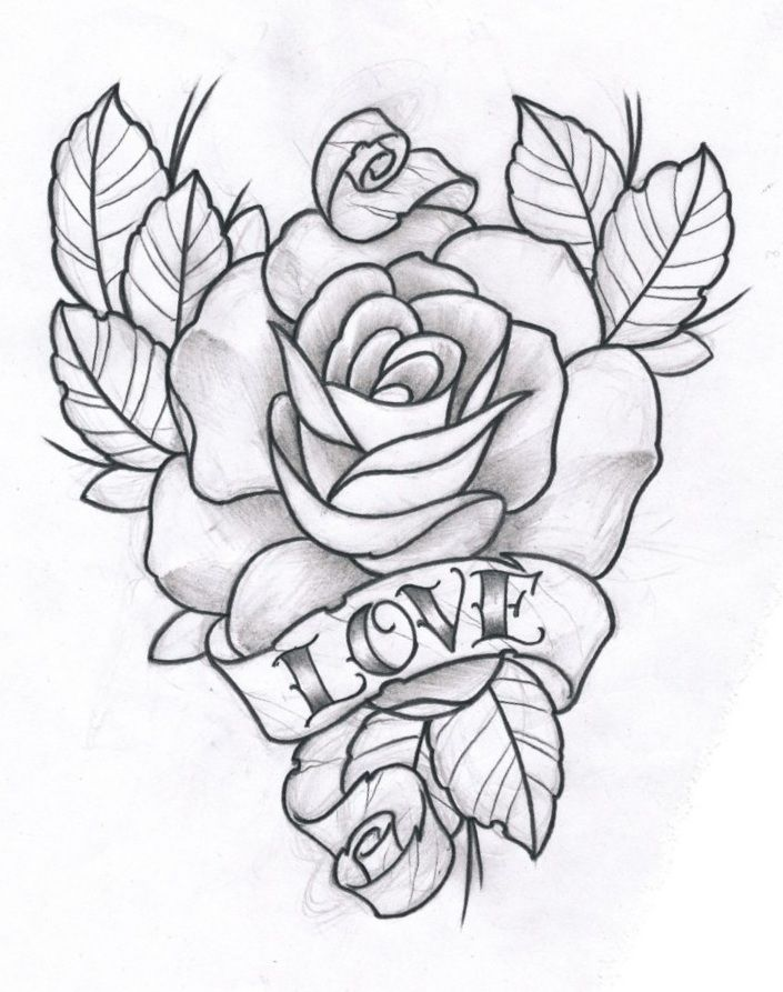 Heart And Rose Love Drawings Rose and Love b...