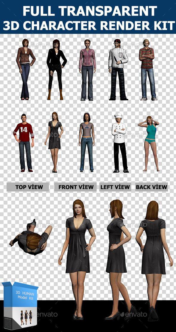 3d human character collection set characters 3d renders best 3d 3d human character collection set characters 3d renders maxwellsz